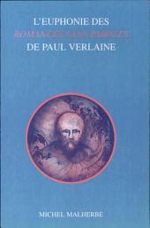 L'euphonie des Romances sans paroles de Paul Verlaine