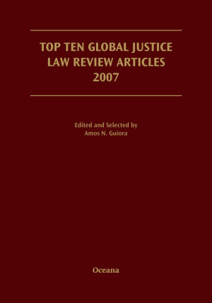 Top Ten Global Justice Law Review Articles 2007 PDF