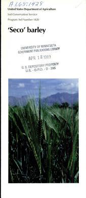 'Seco' barley
