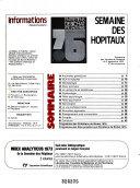 Download Semaine Des Hopitaux Informations Book