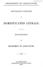 Contagious Diseases of Domesticated Animals
