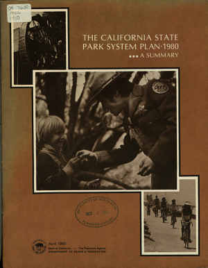The California State Park System Plan, 1980