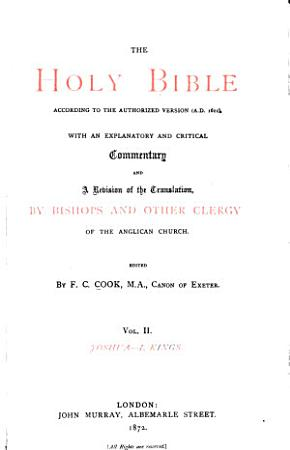 The Holy Bible  According to the Authorized Version  A D  1611   St  John  The Acts of the apostles PDF