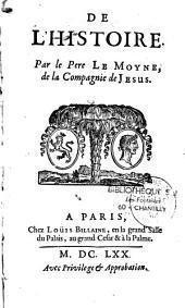 De l'histoire, par Pierre Le Moyne