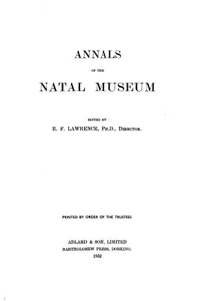 Annals of the Natal Museum