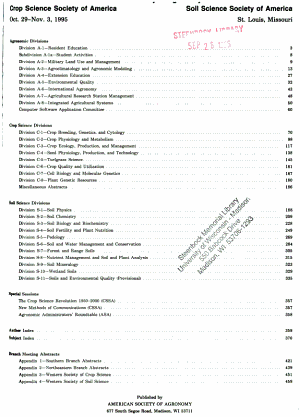 Agronomy Abstracts PDF