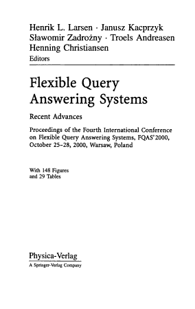 Flexible Query Answering Systems PDF