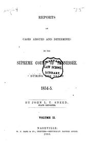 Reports of the cases argued and determined in the Supreme Court of Tennessee, during the years 1853-[1858]: Volume 2