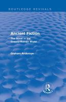 Ancient Fiction  Routledge Revivals  PDF
