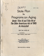 State Plan for Programs on Aging Under Title III and Title VII of the Older Americans Act of 1965 as Amended for the State of Wisconsin for Fiscal Year 1976 PDF