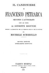 Il Canzoniere di Francesco Petrarca secondo l'autografo