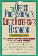 Arco the Office Professional s Quick Reference Handbook PDF