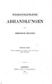Wissenschaftliche Abhandlungen: Band 1