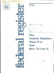 The Federal Register PDF