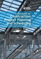 A Handbook for Construction Project Planning and Scheduling PDF