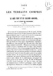 Note sur les terrains compris entre le gres vert et le calcaire grossier par m. L. Élie de Beaumont