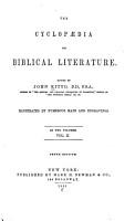 The Cyclop  dia of Biblical Literature PDF