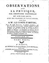Observations sur la physique, sur l'histoire naturelle et sur les arts: Volume 36