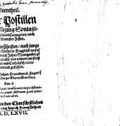Winterteil der Postillen oder außlegung Sontagischer Episteln und Evangelien auch der fürnehmen Festen: Item Sommertheil. Winterteil. 1