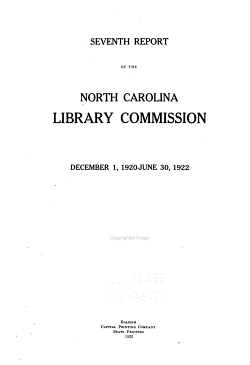 Biennial Report of the North Carolina Library Commission PDF