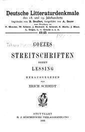 Deutsche Litteraturdenkmale des 18. und 19. Jahrhunderts: Bände 43-45