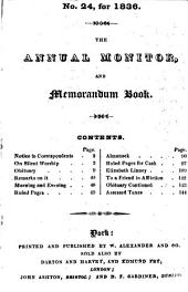 The Annual Monitor ...: Or, Obituary of the Members of the Society of Friends in Great Britain and Ireland ..., Volumes 22-24