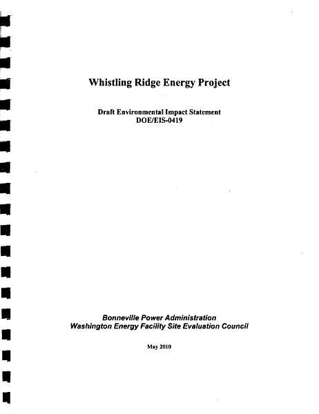 Whistling Ridge Energy Project