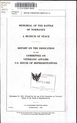 Memorial of the Battle of Normandy PDF