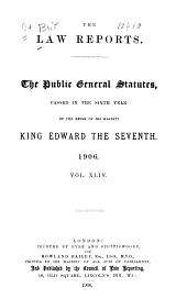 The Public General Statutes: With a List of the Local and Private Acts Passed in the ... Years of the Reign of ... : Being the ... Session of the ... Parliament of the United Kingdom of Great Britain and Ireland, Volume 44