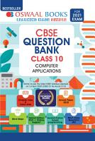 Oswaal CBSE Question Bank Class 10  Computer Applications  For 2021 Exam  PDF