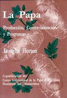La Papa  produccion  comercializacion y programas  PDF