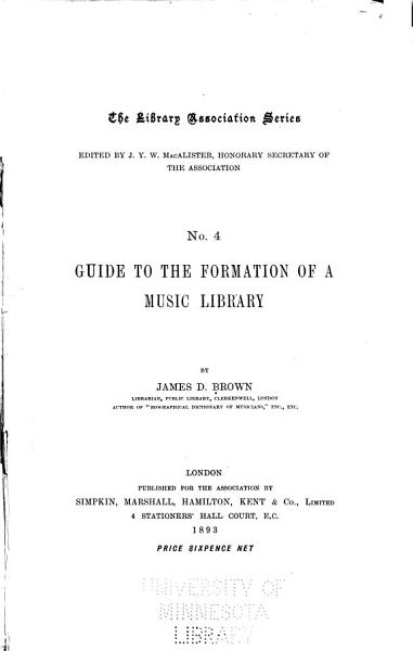 Guide To The Formation Of A Music Library