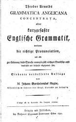 Theodor Arnolds Grammatica Anglicana concentrata PDF