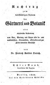 Gartnerei und Botanik: Band 8