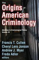 The Origins of American Criminology PDF