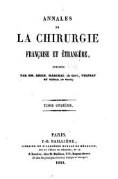 Annales de la chirurgie française et étrangère: Volume11
