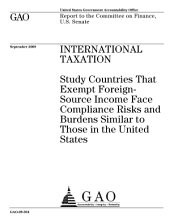 International Taxation: Study Countries That Exempt Foreign-Source Income Face Compliance Risks and Burdens Similar to Those in the United States