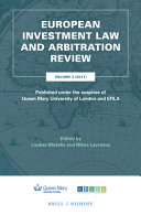 European Investment Law and Arbitration Review