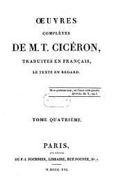 Oeuvres complètes de M. T. Cicéron: Ouvrages de rhéthorique, Volume4