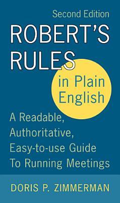 Robert s Rules in Plain English 2e