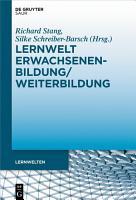 Lernwelt Erwachsenenbildung Weiterbildung PDF