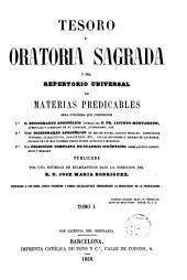 Tesoro de Oratoria Sagreda: Diccionario Apostólico