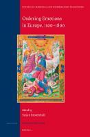 Ordering Emotions in Europe  1100   1800 PDF