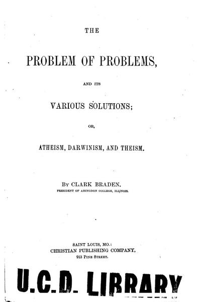 The Problem of Problems and Its Various Solutions PDF