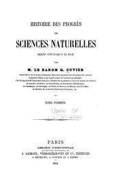 Histoire des progrès des sciences naturelles: depuis 1789 jusqu'à ce jour, Volume1