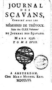 Le journal des sçavans, combiné avec les mémoires de Trévoux: Volume18