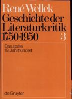 Geschichte der Literaturkritik  1750 1950 PDF