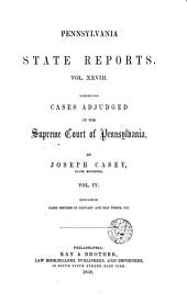 Pennsylvania State Reports: Volume 28