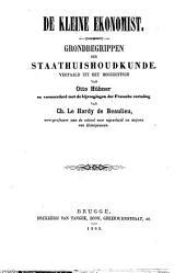 De kleine ekonomist: grondbegrippen der staathuishoudkunde