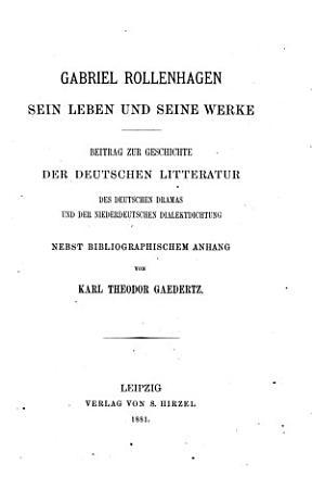 Gabriel Rollenhagen  sein Leben und seine Werke PDF
